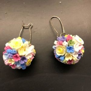 Anthropologie Colorful Drop Cluster Earrings